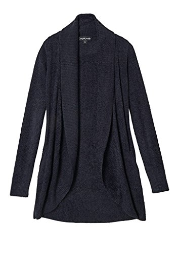 Barefoot Dreams Bamboo Chic Lite Circle Cardi (X-Small, Black) by Barefoot Dreams