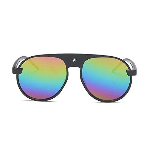 Aoligei Film couleur Pentagram lunettes de soleil mode masculine Dame Bright E