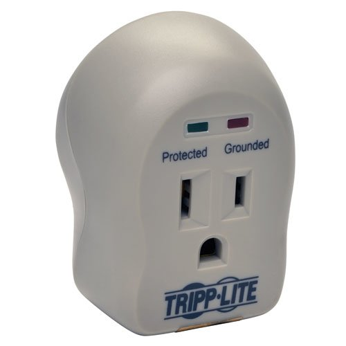 Spikecube Series 1-Outlet Personal Surge Protector Wall Tap