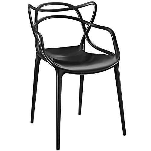 Modway Entangled Contemporary Modern Dining Armchair in Black