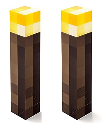 ThinkGeek Minecraft Wall Torch Pack of 2 by ThinkGeek