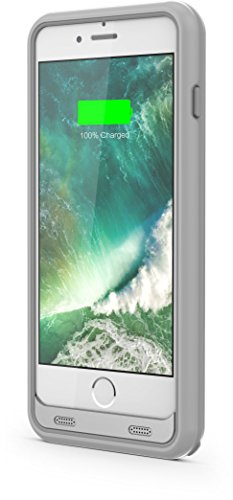 Powercases Battery Case for iPhone 6 / 6S / 7 3100 mAh Capacity Power Bank Charging Protection Bumper New Design (Silver)