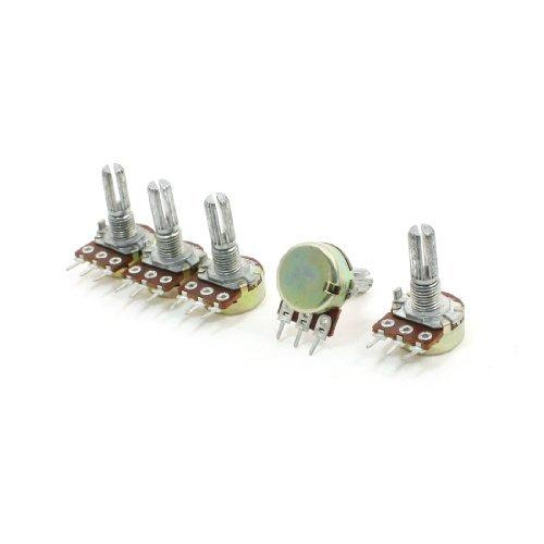 5pcs 150 K ohm 6 mm Dia Shaft Type B Single Linear Taper Potentiometer DealMux