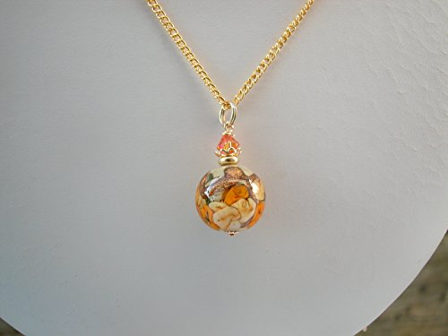 Round Murano Glass Pendant On 14K Gold Fill (14k Gold Murano Glass)