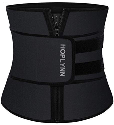 HOPLYNN Neoprene Sweat Waist Trainer Corset Trimmer Belt for Women Weight Loss, Waist Cincher Shaper Slimmer Black XXX-Large