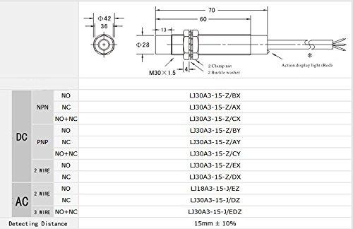 Woljay LJC18A3-H-Z/BX Kapazität Kapazitiver Näherungsschalter ...