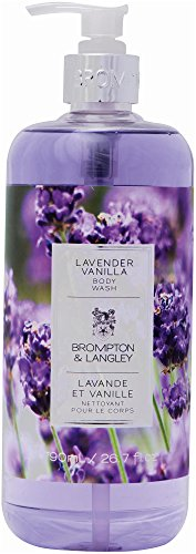 Brompton & Langley Body Wash, Lavender Vanilla (Scented Shower Gel Vanilla)