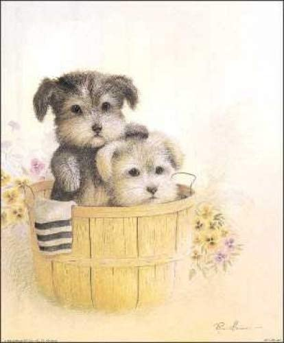 Brotherly Love Puppies Paper Tole 3D Kit Size 8x10