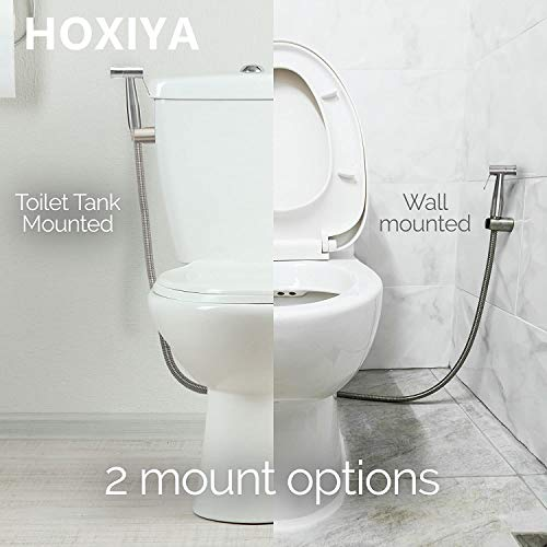HOXIYA Leakproof Easy to Install Handheld Bidet Sprayer for Toilet Attachment,Baby Cloth Diapers Sprayer Kit,Portable Bidet Toilet Bowl Water Sprayer with Adjustable Water Pressure
