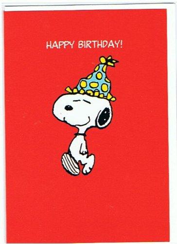 Snoopy And Peanuts Happy Birthday Greetings Card Sn6 Amazon