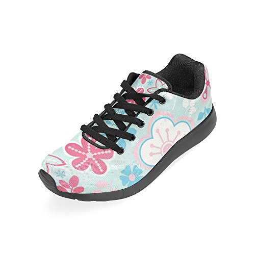 Interestprint Kvinna Löparskor Jogging Lätta Sport Gå Athletic Sneaker Paisley Och Fantasiblommor Multi 10