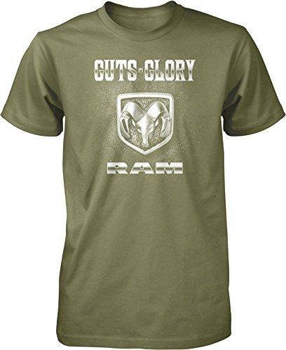 - Guts and Glory RAM, RAM Trucks, Dodge Trucks Men's T-shirt, Moss, M