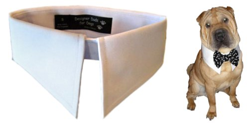 Calvin K-nine Shirt Collar for Dogs (White, XL) Fits 23″ – 27″ Neck, My Pet Supplies