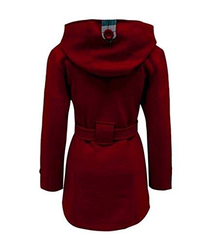 tailles capuche manteau 4XL Femmes Vin Janisramone S hiver xO87nHq