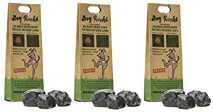 Dog Rocks – All Natural Grass Burn Solution for Dogs Prevents Lawn Urine Stains - 200 Gram Box (3 Pack)