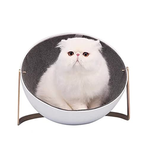 Cat Cave Beds Houses Condos with Scrape Cats Hair Brush Australian Merino Wool ,White Color Stainless Steel Bracket 12inch×9.6inch,6.17lb free shipping