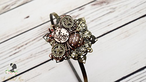 Handcrafted Steampunk Bee Headband - Bee Jewelry - Hair Ornament - Steampunk Cosplay - Copper and Brass - Steampunk Adult Headband - Flower Headpiece