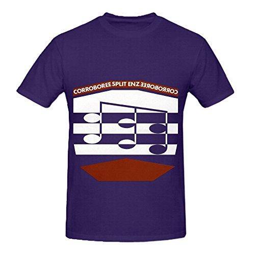 Split Enz Corroboree Rock Men Crew Neck Slim Fit Tee Purple
