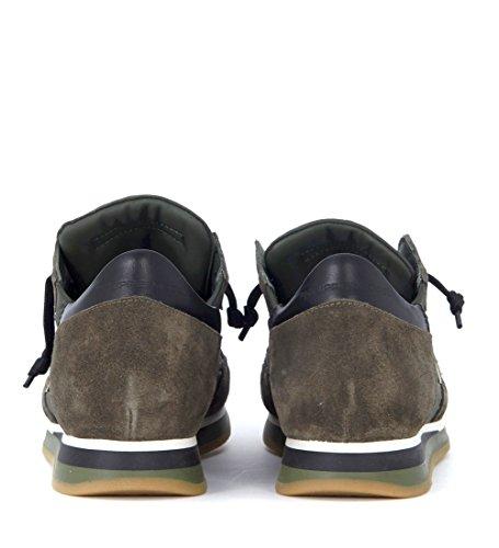 En Venta Barato Real Philippe Model Sneaker Tropez in camoscio e Tessuto Verde Scuro Verde Más Barato CuO5sld8Ei