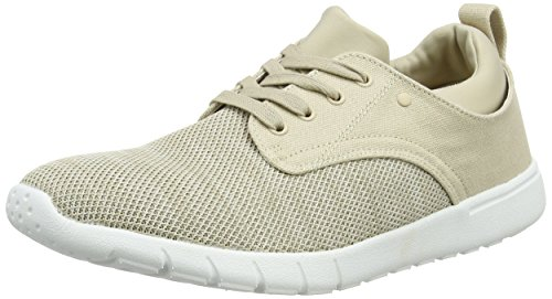 New Look Knitted Contrast Runner, Zapatillas para Hombre Hueso (Stone)