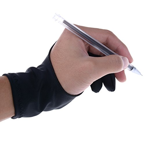 CosCosX 1 Pc Artist Glove,Three Sizes Anti-fouling Drawing Glove with Two Fingers for Graphics Drawing Tablet Monitors Pen Display Light Box (Best Tablet Pc For Artists)
