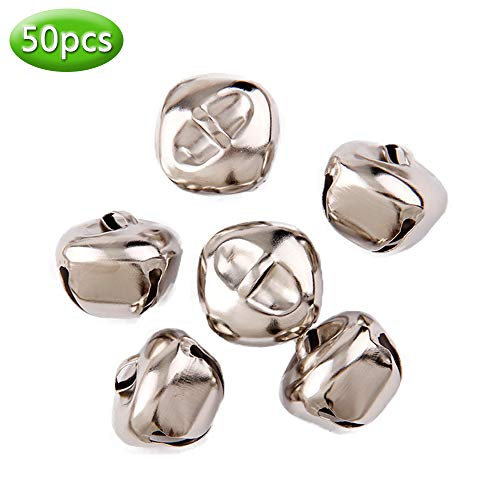 Jingle Bells Colorful Christmas Metal Bells Craft for Wreath, Holiday Home Decoration, DIY Art Crafts,50pcs (Mixcolor/0.4
