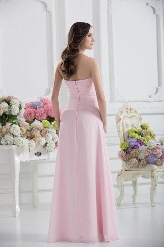 Perlen elegante Abendkleid Einfache Dekoration mit GEORGE Rosa BRIDE qwXZEFA