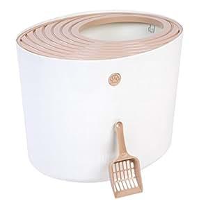 IRIS Top Entry Cat Litter Box, White