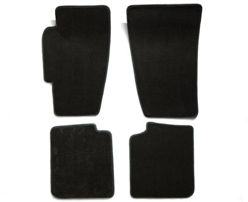 -piece Set Carpet Floor Mats for Dodge Charger (Premium Nylon, Black) (Dodge Charger Black Carpet)