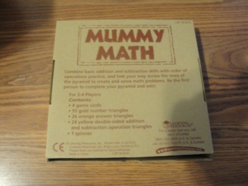 Learning Resources Mummy Math - Addition/Subtraction Game