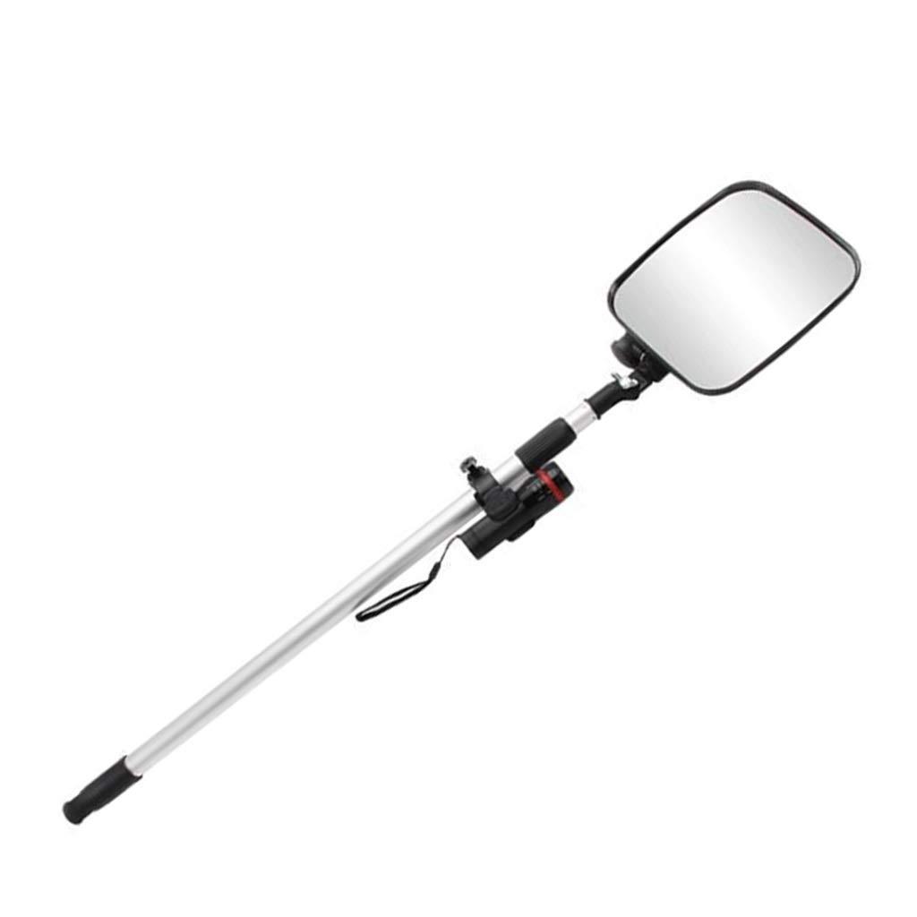 安全ミラー 携帯型検査セキュリティミラー、 長方形アクリルフラット 車検用 調節可能な固定金具付き 黒 (Size : 22cm) 22cm  B07S66H39F