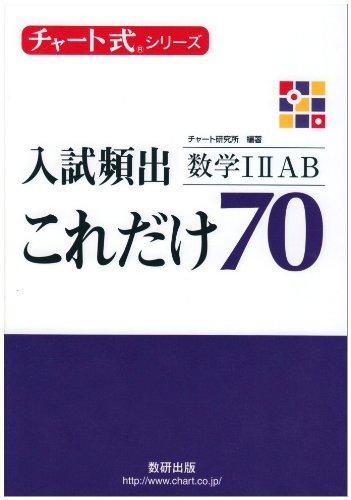 数学のおすすめ参考書・問題集『入試頻出これだけ70』