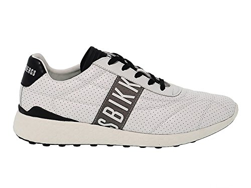 Bikkembergs Men's Bke108771 White Leather (Bikkembergs Men Shoes)