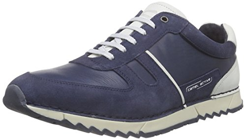 camel active Club 11 Herren Sneakers Blau (jeans/off-white)