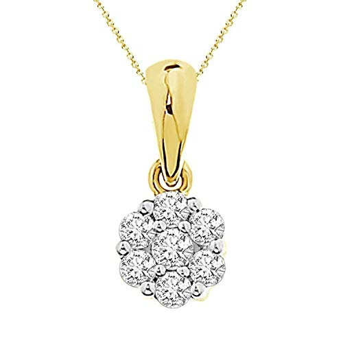 Eternal Bliss 1/6 cttw Round Diamond Ladies's Flower Pendant with 18