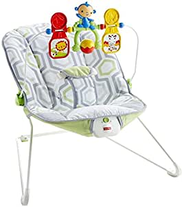 Fisher-Price Babys Bouncer, Geo Meadow, 2 Pack