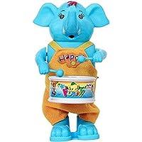 MIZPAH ENTERPRISE Elephant Drummer Toy with Dancing Action for Kids (Blue)
