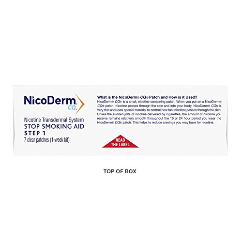 NicoDerm CQ Stop Smoking Aid 21 milligram Clear Nicotine Patches for Quitting Smoking, Step 1, 7 Count-Pack of 12 by NicoDerm CQ (Image #10)