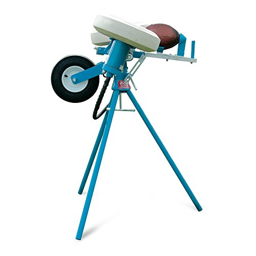 Jugs Football Passing Machine — Throws Perfect Passes, punts and kickoffs to Any Precise spot on Your Field. Throws 5-80 Yards. As seen on ESPN. 5 Year Guarantee.