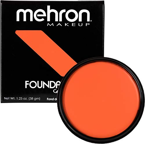 Mehron Makeup Foundation Greasepaint (1.25 oz) (ORANGE) -