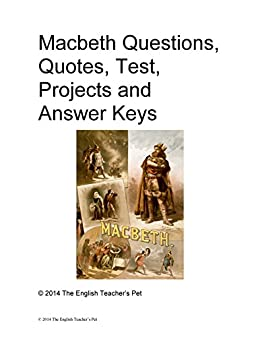 Amazon macbeth study guide questions quotes test projects macbeth study guide questions quotes test projects and answer keys by the fandeluxe Choice Image