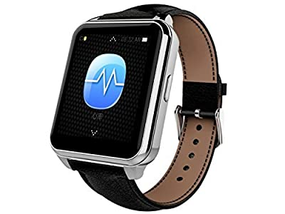 Goodbang Waterproof Wrist Watch F2 Bluetooth Smart Watch Health Heart Rate Sync Call SMS For Samsung Galaxy S6/S6 edge IOS Android Smartphone Sports Pedometer Sleep Monitoring (Black)