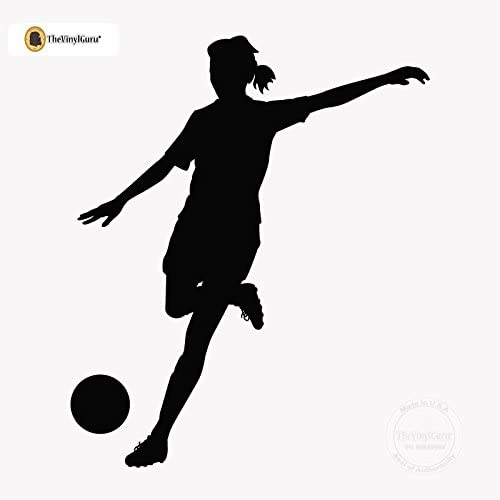 Soccer-football-player-silhouette set Wall Art Vinyl Decal Stickers