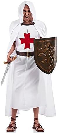 Disfraz de Templario Blanco para hombre: Amazon.es: Ropa y ...