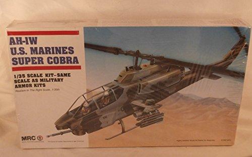 AH-1W U.S. Marines Super Cobra Helicopter 1:35 Scale Military Model Kit