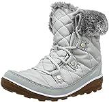 Columbia Women's Heavenly Shorty CAMO Omni-Heat Ankle Boot, Grey ice, White, 9.5 Regular US