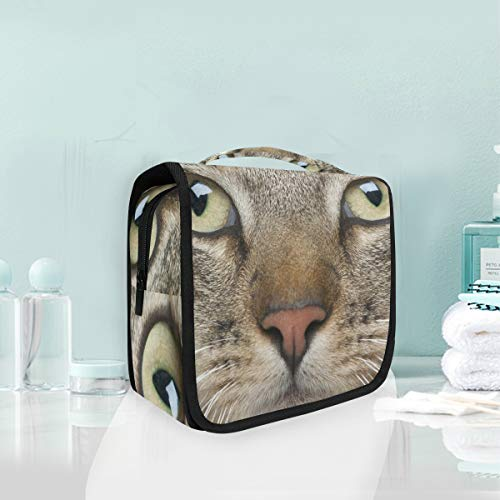 Makeup Bag Cosmetic Storage Bag Cat Whiskers Eyes Muzzle Animal Toiletry Portable ()