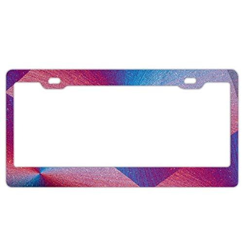 YEX Abstract Abstract Pink Blue Glitter License Plate Frame Car Licence Plate Covers Auto Tag Holder 6