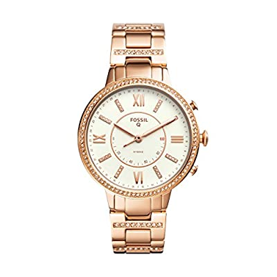 Fossil Q Women's Virginia Stainless Steel Hybrid Smartwatch, Color: Rose Gold-Tone (Model: FTW5010) by Fossil Connected Watches Child Code