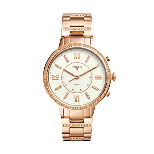 Fossil Hybrid Smartwatch - Q Virginia Rose Gold-Tone Stainless Steel FTW5010 by Fossil